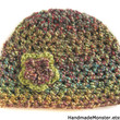 CROCHET HAT FLOWER green brown turquoise blue purple hippie hipster womens womans girls