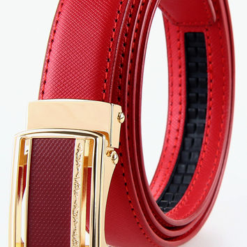 Large Size Woman Automatic Genuine Leather Belt 120 125 cm Cowskin Belts Elgant Belt Buckles Big Belts Woman Waistband Promotion