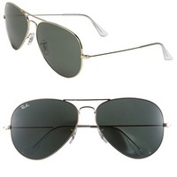 Women's Ray-Ban 'Large Original Aviator' 62mm Sunglasses - Gold/ Green