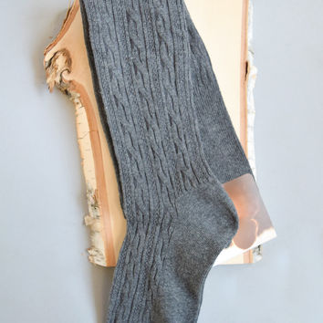 Over The Knee Boot Socks Charcoal