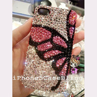 iPhone case, iPhone 4 Case, iPhone 4s Case, iPhone 5 Case, Bling iphone 5 case, unique iphone 4 case, bling iphone 4 case Butterfly