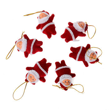 60 PCSChristmas Tree Ornaments Papai Noel Boneco Adornos Navidad 2016 Santa Claus Figurines Christmas Decorations Gift