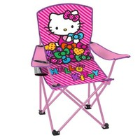 Hello Kitty Child's Folding Chair with Cup Holder