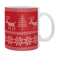Natt Christmas Knitting Deer Coffee Mug