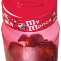 M&M's Digital Coin Counting Money Jar, Red