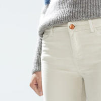 Corduroy trousers with zips