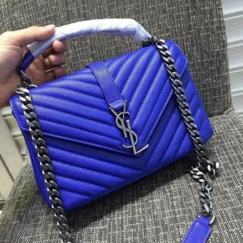 DCCK9IW YSL SAINT LAURENT A232112 BLUE BAG HANDBAG