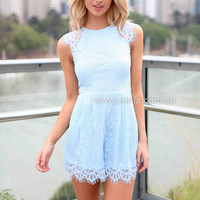 CAITLYN LACE PLAYSUIT , DRESSES, TOPS, BOTTOMS, JACKETS & JUMPERS, ACCESSORIES, 50% OFF SALE, PRE ORDER, NEW ARRIVALS, PLAYSUIT, GIFT VOUCHER, Australia, Queensland, Brisbane