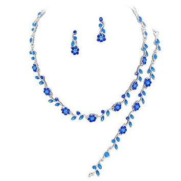 Shop Royal Blue Necklace And Earring Sets On Wanelo