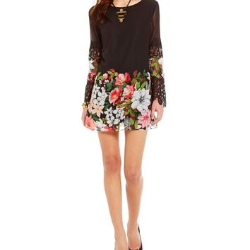 Guess Simone Floral-Print Swing Dress | Dillards