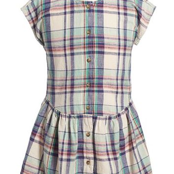 Girl's Tea Collection 'Daniela' Plaid Drop Waist Dress,