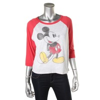 Disney Womens Graphic Elbow Sleeves T-Shirt