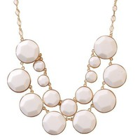 Pure White Bubble Necklace White Bubble Jewelry Cluster Necklace White Necklace (Fn0575-Pure White)