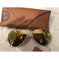 Cheap BRAND NEW Ray Ban Aviator Classic Gold flash lens outlet
