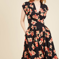 Emily and Fin Saunter Sweetly Midi Dress | Mod Retro Vintage Dresses | ModCloth.com
