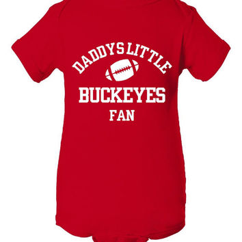 Daddys Little Buckeyes Fan Toddler And Youth T-Shirt Ohio Fans Printed Tee for Kids Creepers & T-Shirts. Makes a Great Gift!!