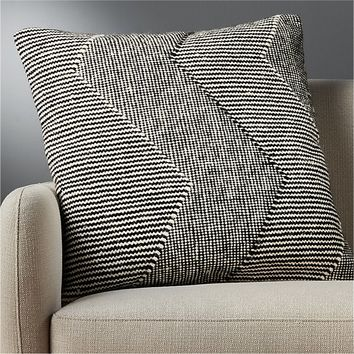 """23"""" bias pillow with feather-down insert"""