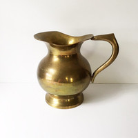 Solid Brass Pitcher / Vase / Water Pitcher /  Made in India
