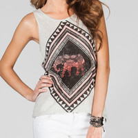 FULL TILT Elephant Womens Tank