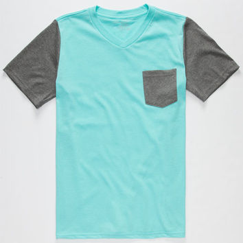 Blue Crown Boys Pocket Tee Mint  In Sizes