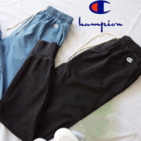 """Champion""Harem pants elastic feet pants cotton imitation cowboy casual pants - elastic waist pants"