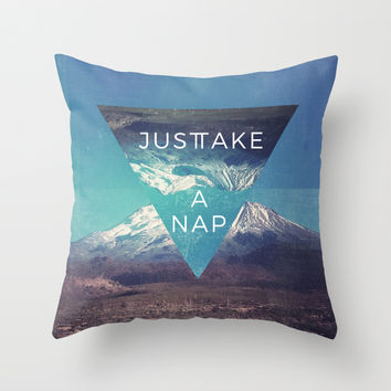 Just Take A Nap Throw Pillow by MidnightCoffee