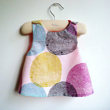 Reversible Pinafore top or dress - The Orsay - French Style - 6 months to 5Y