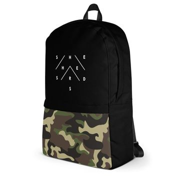 Amelia Backpack - Camo & Black