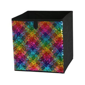 Mainstays Reversible Sequin Collapsible Storage Cube (10.5 x 10.5), 1 piece - Walmart.com