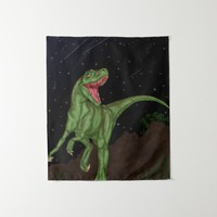 Dinosaur - Prehistoric Night Tapestry