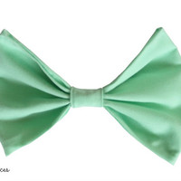 Mint Hair Bow by craftsbyfrances on Etsy
