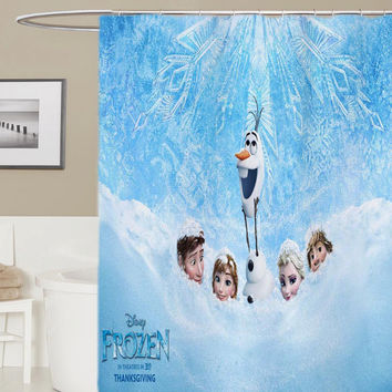 frozen olaf  custom shower curtain, curtains