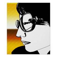 Woman Wearing Sunglasses Summer Original Art Poster