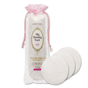 [ETUDE HOUSE] My Beauty Tool Round Clear Cotton