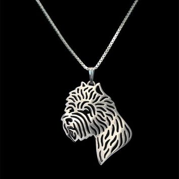 Unique Romantic Gold Silver West Highland White Terrier Dog Head Pendant Necklace Hunger Games Necklace Women Best Friend Choker