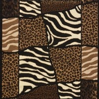United Weaver Legends African Montage Area Rug