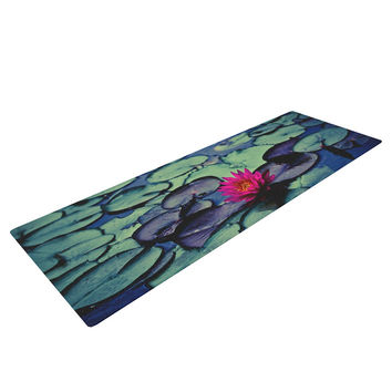 "Ann Barnes ""Twilight"" Water Lily Yoga Mat"