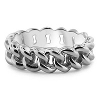 Solid Gold Chain Link Ring