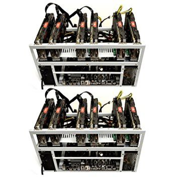 2-Pack SPARTAN Open Air Mining Rig Frame Computer Case Chassis - Ethereum ETH Bitcoin BTC
