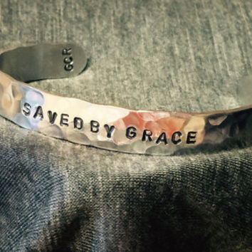 Saved By Grace Cuff Bracelet