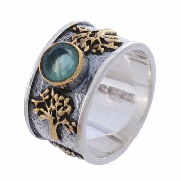 Arvino Sterling Silver Ring with Apatite Gemstone