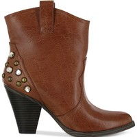 Mia Sunrise Studded Cowboy Booties