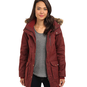 Vans Cadet Parka Heather Garnet - 6pm.com