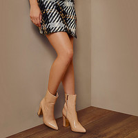 RI Studio nude patent ankle boots