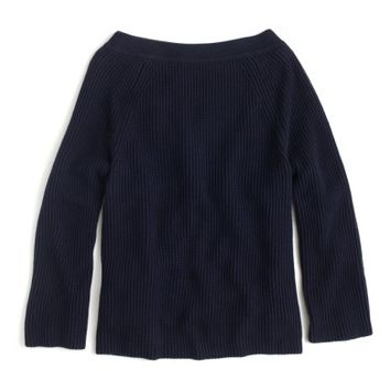 J.Crew Relaxed Cotton Boatneck Sweater | Nordstrom