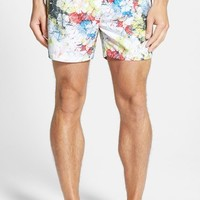 Men's BOSS 'Pirana' Print Swim Trunks