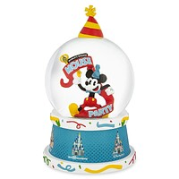 Disney Parks Mickey Mouse 90th Birthday Light Up Snowglobe Celebrate Snow Globe