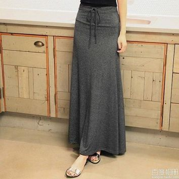 DCCKIX3 Women's long skirt with string around the waist,one size = 1946476868