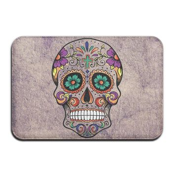 "Jingb Fashions Doormat Sugar Skull Cross Indoor/Outdoor/Front Welcome Door Mat(23.6""x15.7"",L X W)"