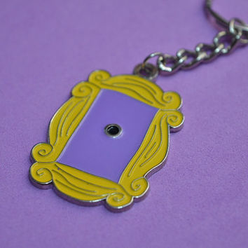 friends tv show frame key chain friends peephole frame friends series door frame llavero marco puerta